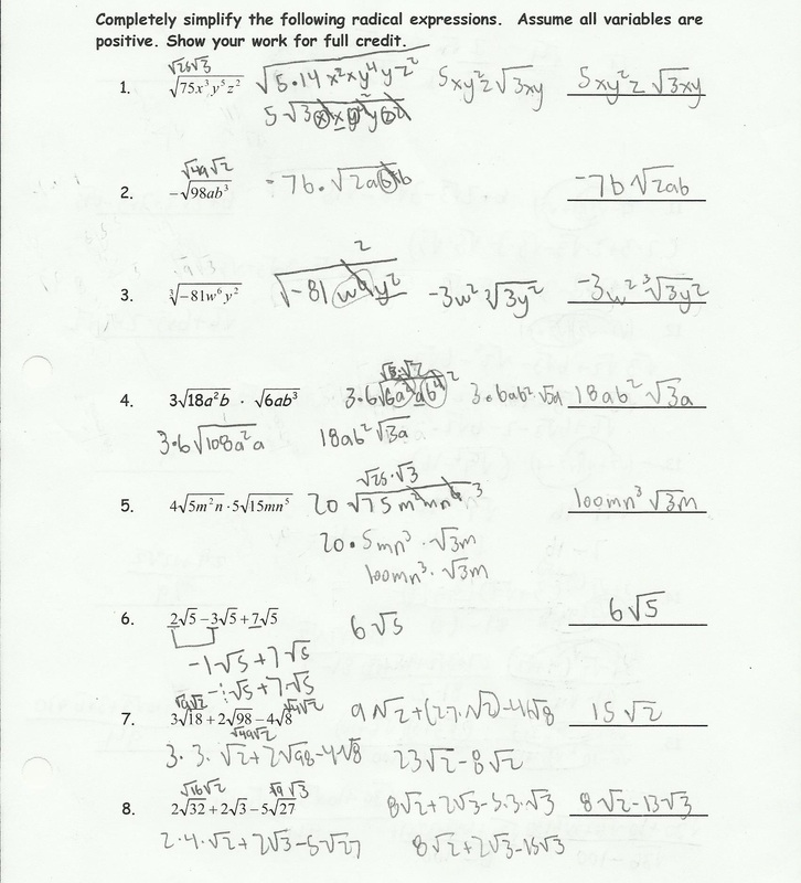 Worksheet Simplifying Radicals Worksheet 1 simplify radicals worksheet irecruityou com au date period multiplying radical expressions answers simplifying worksheet